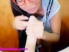 Heather Deep gets it in the ass and pussy and cum on glasses on Watchteencam.com