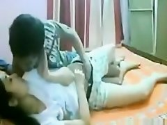 Hot indian girl has missionary and cowgirl sex with her bf on Watchteencam.com