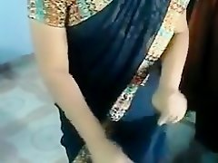 My chubby Indian spouse puts her sari on in homemade clip on Watchteencam.com