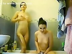 Me and my friend shower, before a night out. like our hot bodies ? on Watchteencam.com