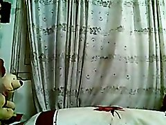 Excited Arab Girl fucking the Pillow on Watchteencam.com