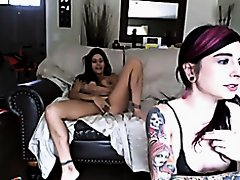 EMO chick in lesbian encounter on Watchteencam.com