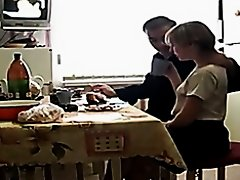 Russian mature couple has breakfast sex on Watchteencam.com
