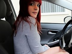Emo girlfriend teasing in the car on Watchteencam.com
