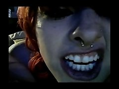 Tattoed Chick Doing Striptease on Watchteencam.com