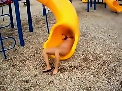 Beloved crazy wife on the playground on Watchteencam.com