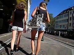 Teens in jeans shorts on Watchteencam.com