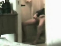 Mom masturbating in toilet on Watchteencam.com