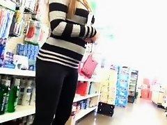 Sexy latina in black leggings on Watchteencam.com