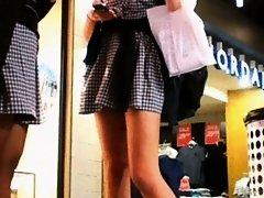schoolgirl milf in the market on Watchteencam.com