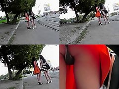 Hot thong of a sexy chick seen in free upskirt video on Watchteencam.com