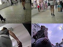 G-string and flabby ass of a auburn in upskirt mov on Watchteencam.com