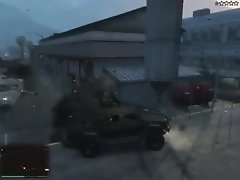 Grand Theft Auto V Stripper Insurgent at the Military Base on Watchteencam.com