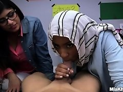 Blowjob Lessons with Mia Khalifa and Her Arab Friend (mk13818) on Watchteencam.com