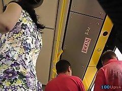 G-string upskirt footage of a babe wearing mini skirt on Watchteencam.com