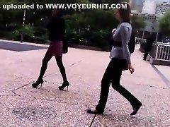 Rookie voyeur follows a business lady on Watchteencam.com