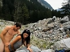 Nervous shy girl fucked in the wilderness on Watchteencam.com