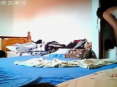 Teen caught in her bedroom dressing on Watchteencam.com