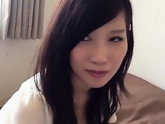 Cute Japanese girl's feet in bed on Watchteencam.com