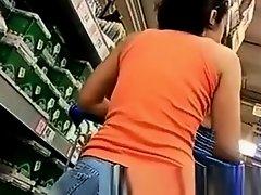 Neighbor hot ass in supermarket on Watchteencam.com