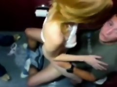 Blonde rides a penis on the toilet seat on Watchteencam.com