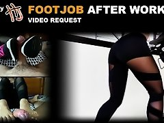 HandJoy * Footjob after workout - sneakers, yoga pants, feet * videorequest on Watchteencam.com