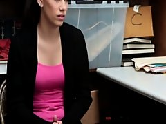 Bobbi Dylan gets her pussy slammed really hard by the security guard on Watchteencam.com