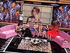 Naked couple interviewed on a chat show on Watchteencam.com